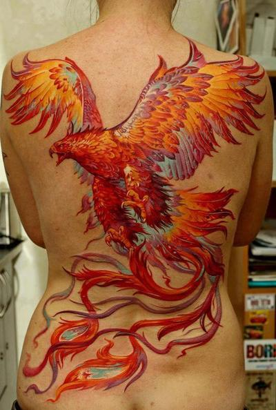 phoenix Tattoos For Girls7