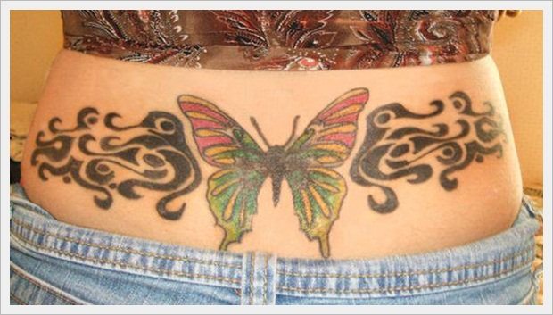 Butterfly Tattoo On A Body