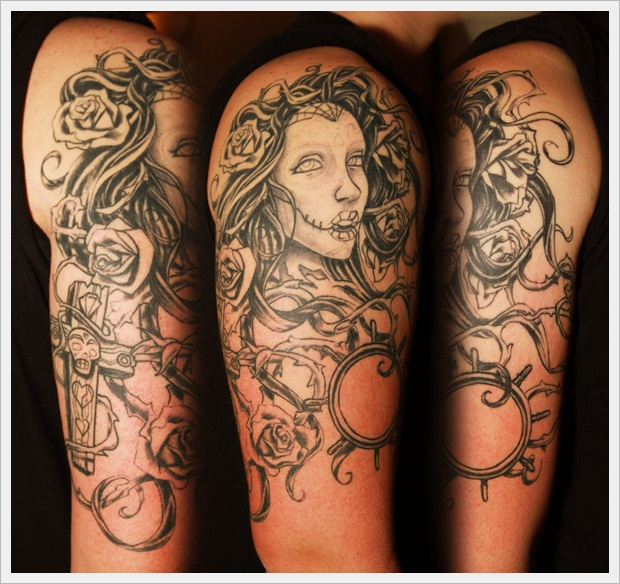Sugar Girl Tattoo Work-in-Progress