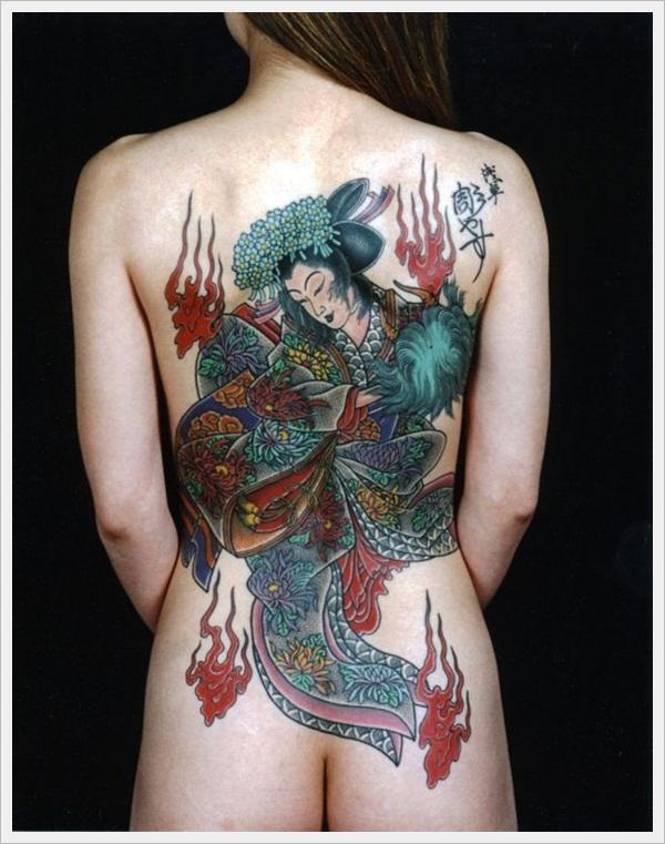 back tattoos for girls 14