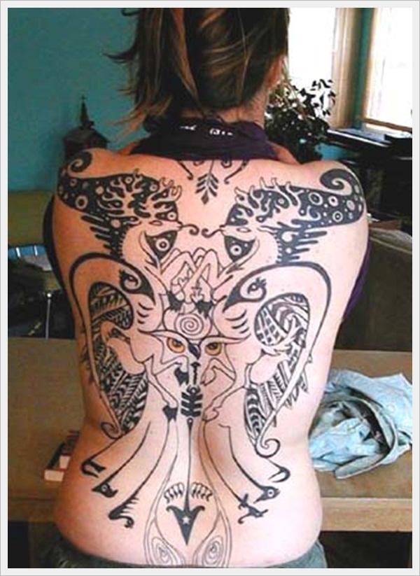 back tattoos for girls 15