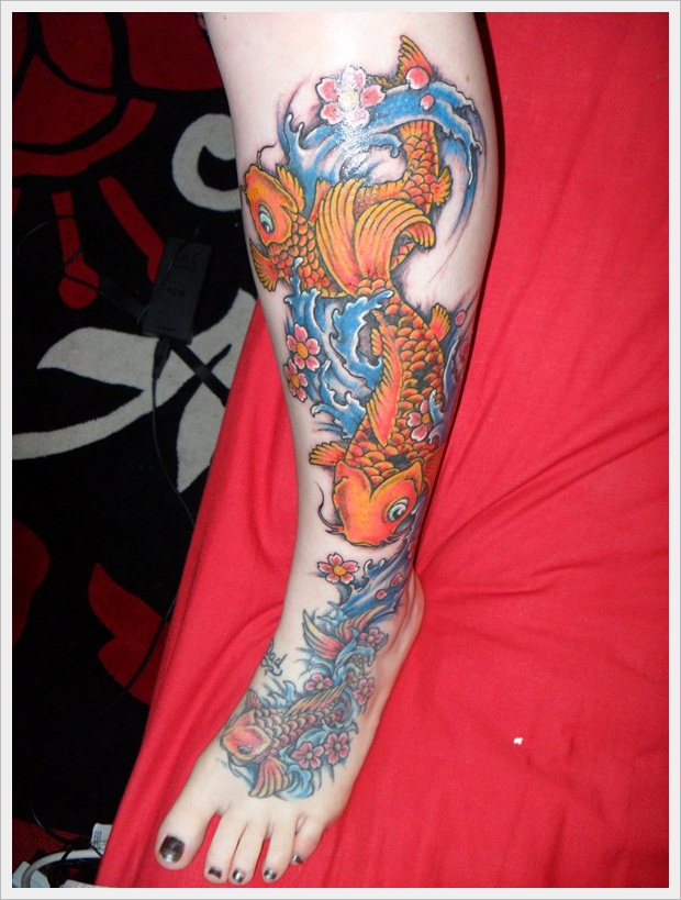 leg tattoo addage