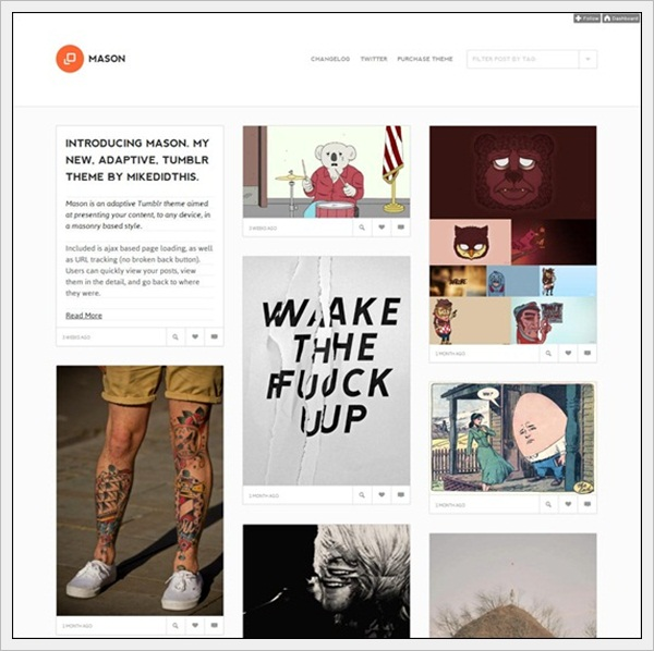 Mason – A Masonry Inspired Tumblr Theme